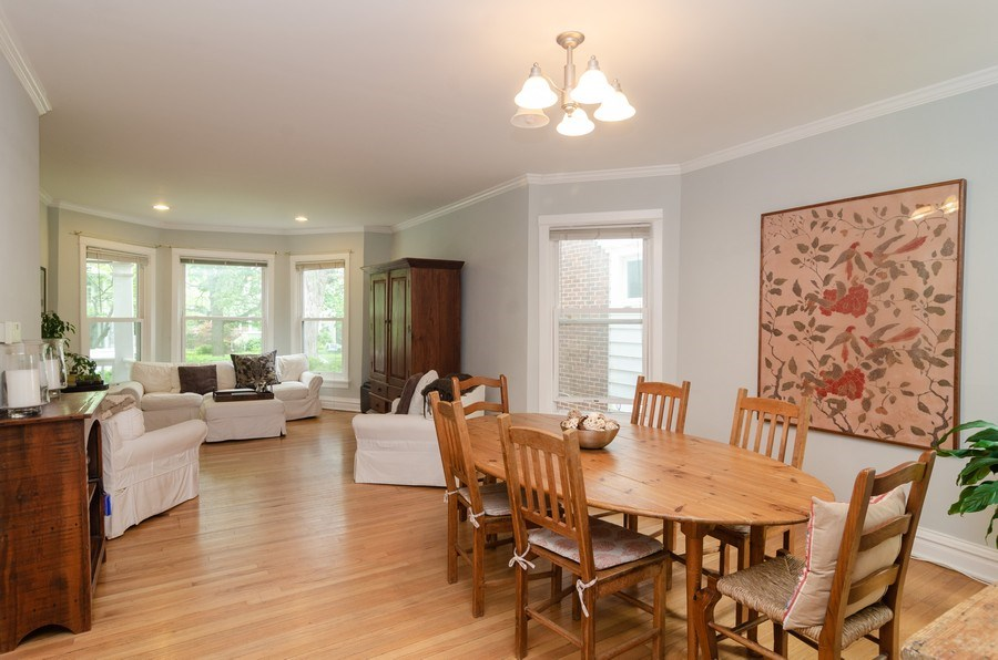 Real Estate Photography - 2022 colfax, evanston, IL, 60201 - Living Room / Dining Room