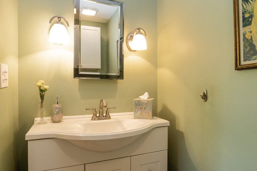 Real Estate Photography - 3314 Bellwood, Glenview, IL, 60026 - Powder Room