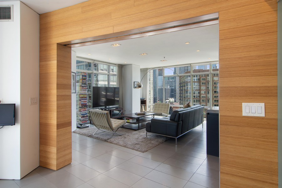 Real Estate Photography - 510 W Erie, #1301, Chicago, IL, 60654 - Living Room