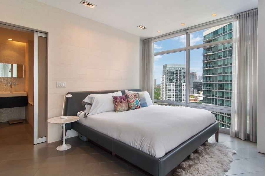 Real Estate Photography - 510 W Erie, #1301, Chicago, IL, 60654 - Master Bedroom