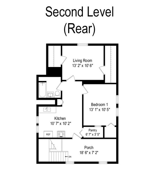 Real Estate Photography - 4027 N. Kilbourn Ave., Chicago, IL, 60641 - Floor Plan