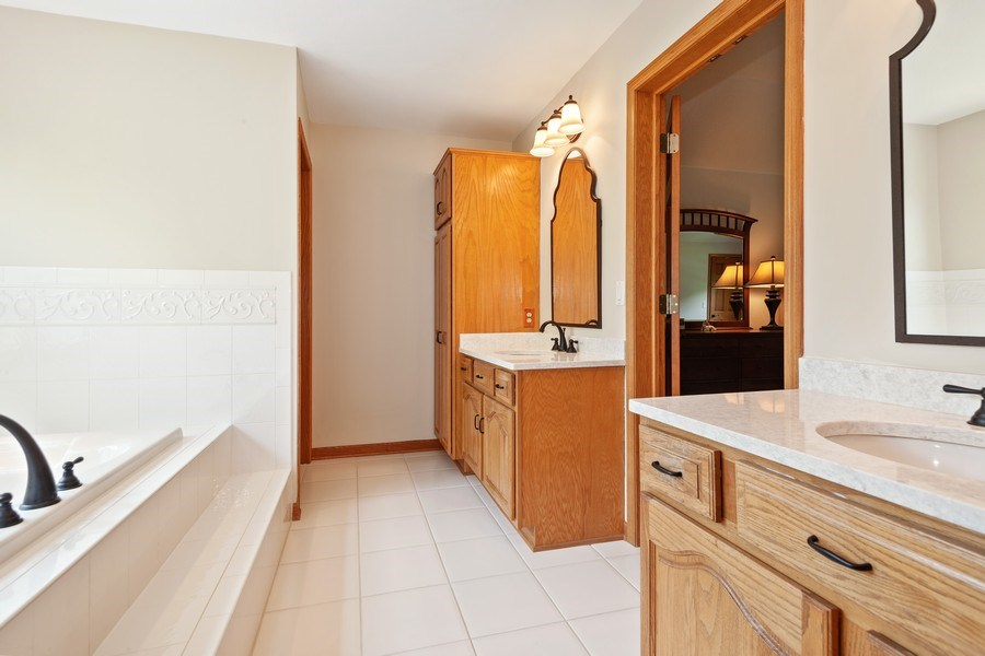 Real Estate Photography - 7005 W Lafayette PL, Mequon, WI, 53092 - Master Bathroom