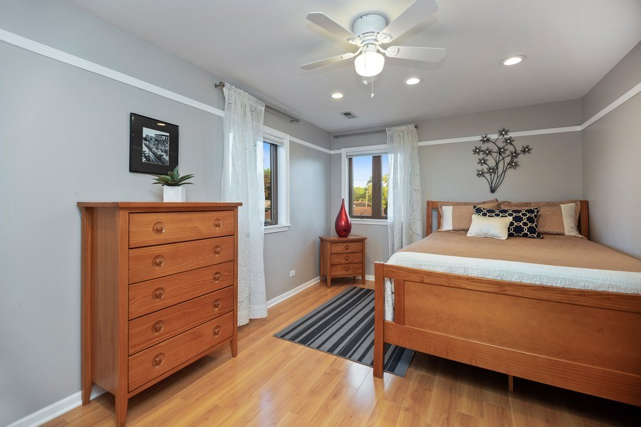Real Estate Photography - 2055 Sherwin Ave, Des Plains, IL, 60018 - 2nd Bedroom