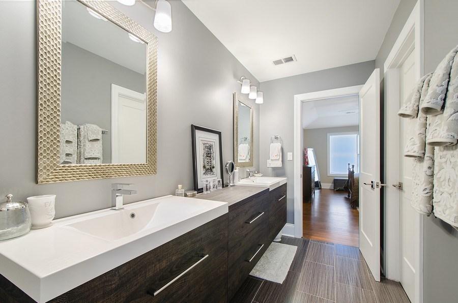 Real Estate Photography - 7052 Palma Ln, Morton Grove, IL, 60053 - 3rd Bathroom
