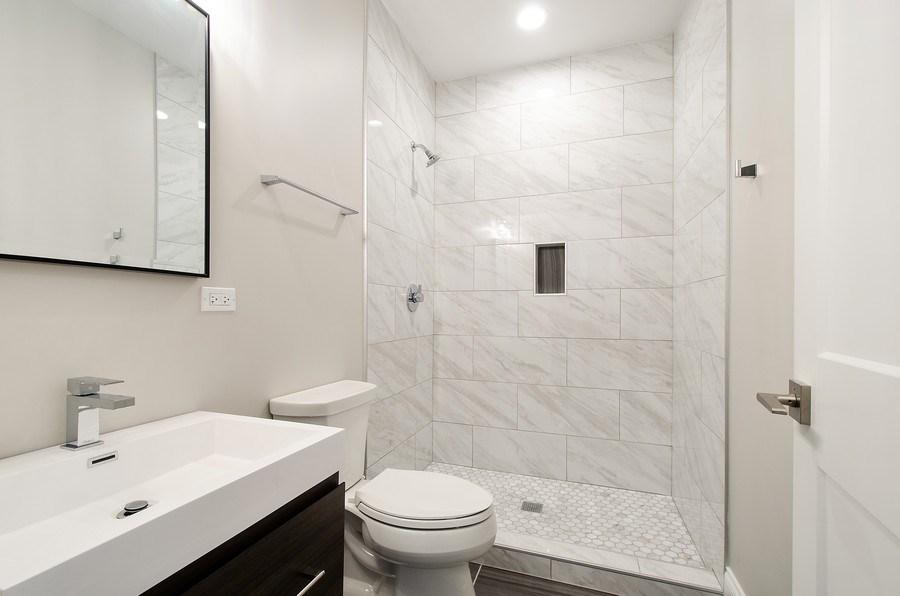 Real Estate Photography - 7052 Palma Ln, Morton Grove, IL, 60053 - 5th Bathroom