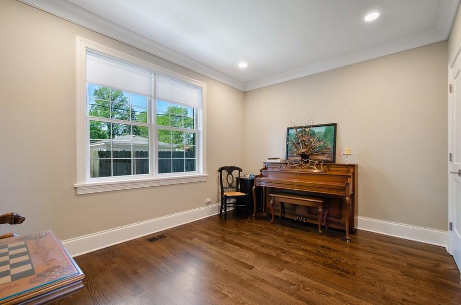 Real Estate Photography - 7052 Palma Ln, Morton Grove, IL, 60053 - 1st floor Bedroom/Office
