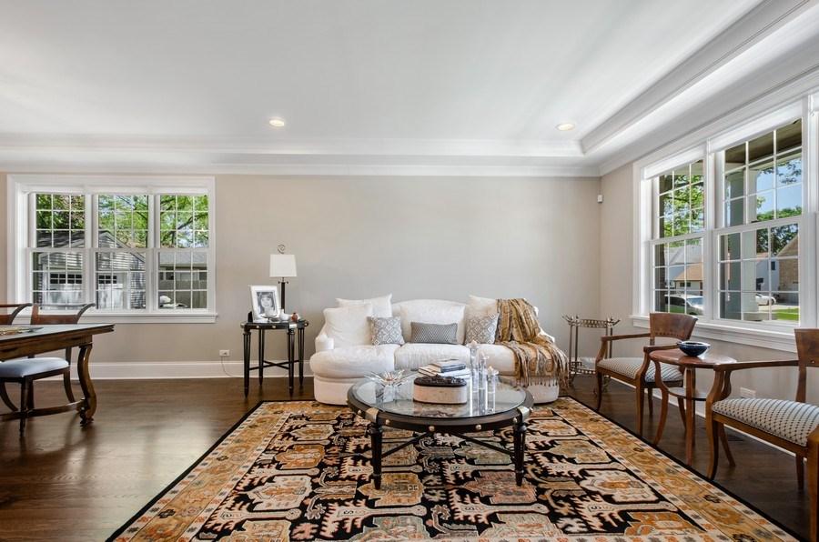 Real Estate Photography - 7052 Palma Ln, Morton Grove, IL, 60053 - Living Room