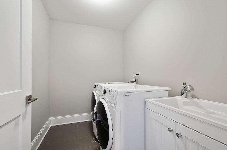 Real Estate Photography - 7052 Palma Ln, Morton Grove, IL, 60053 - Laundry Room