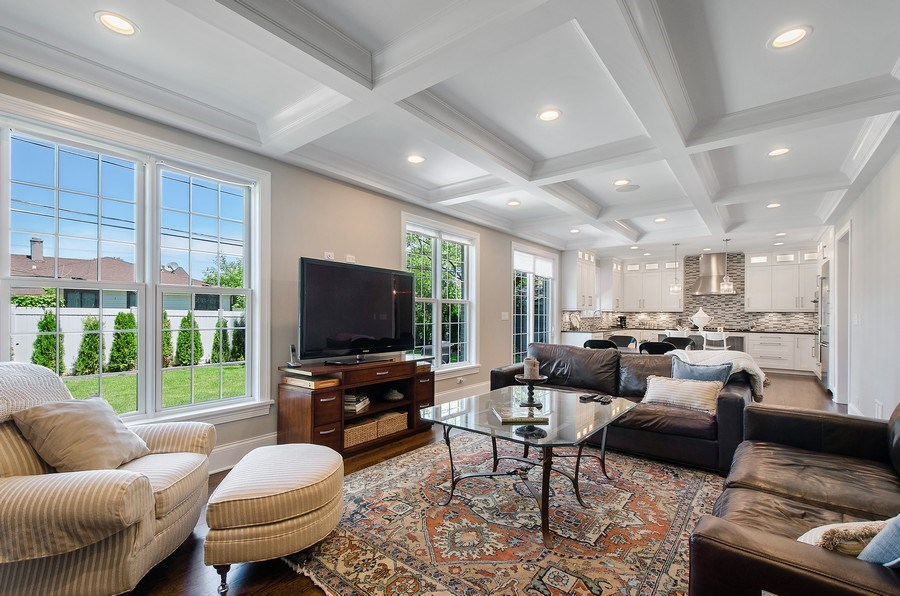 Real Estate Photography - 7052 Palma Ln, Morton Grove, IL, 60053 - Family Room / Kitchen