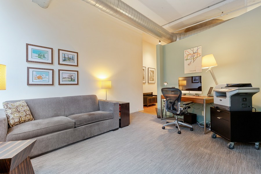 Real Estate Photography - 130 S Canal St, Unit 403, Chicago, IL, 60606 - 2nd Bedroom/Office