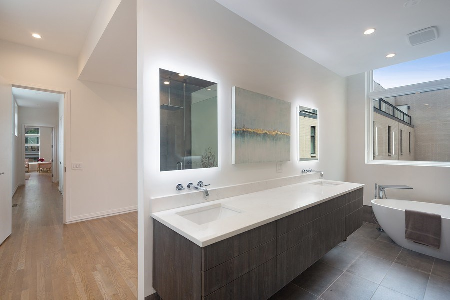 Real Estate Photography - 1011 N Dearborn St, Chicago, IL, 60610 - Master Bathroom / Walk-in Closet