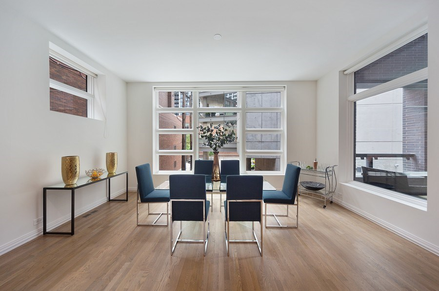 Real Estate Photography - 1011 N Dearborn St, Chicago, IL, 60610 - Dining Room