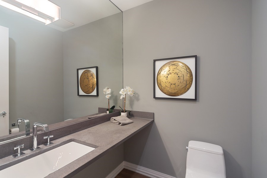 Real Estate Photography - 1011 N Dearborn St, Chicago, IL, 60610 - Powder Room (Main level)