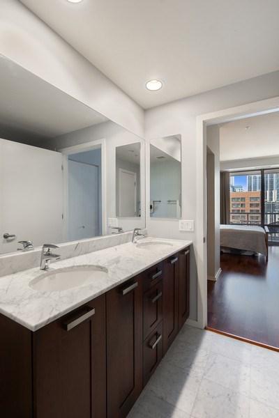 Real Estate Photography - 240 E Illinois, Unit 1804, Chicago, IL, 60611 - Master Bathroom