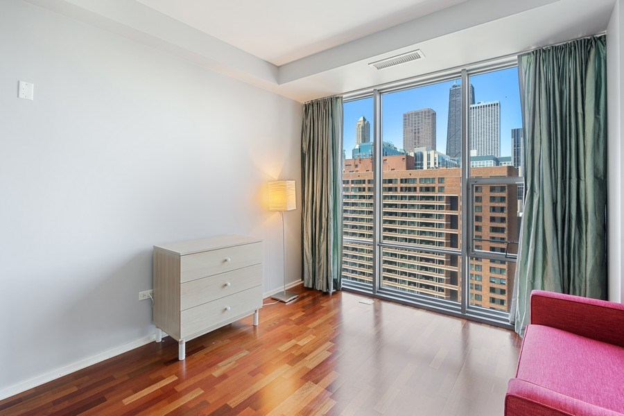 Real Estate Photography - 240 E Illinois, Unit 1804, Chicago, IL, 60611 - 2nd Bedroom