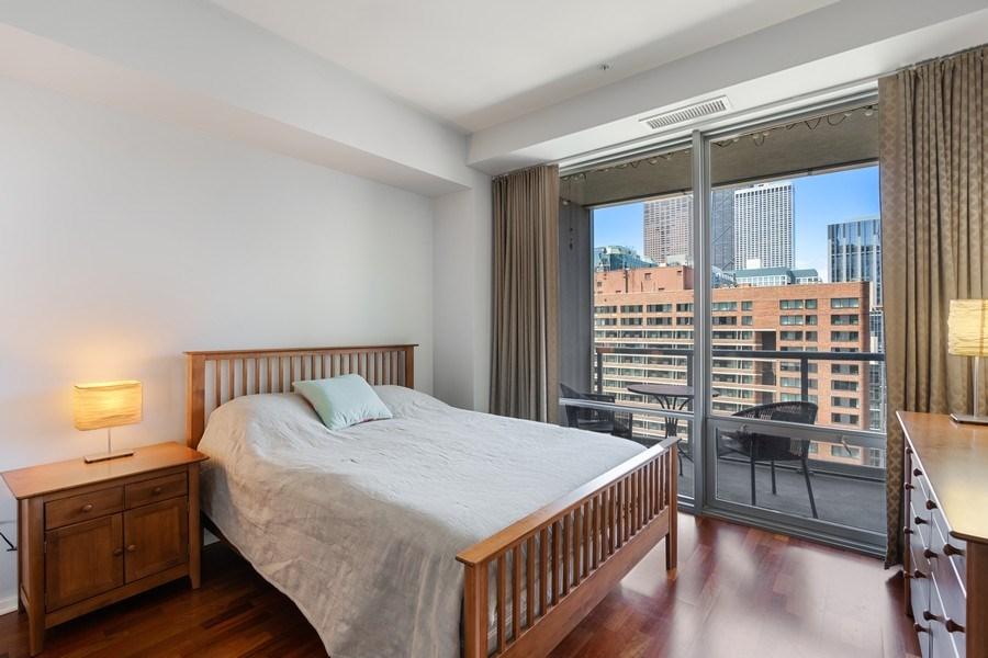 Real Estate Photography - 240 E Illinois, Unit 1804, Chicago, IL, 60611 - Master Bedroom