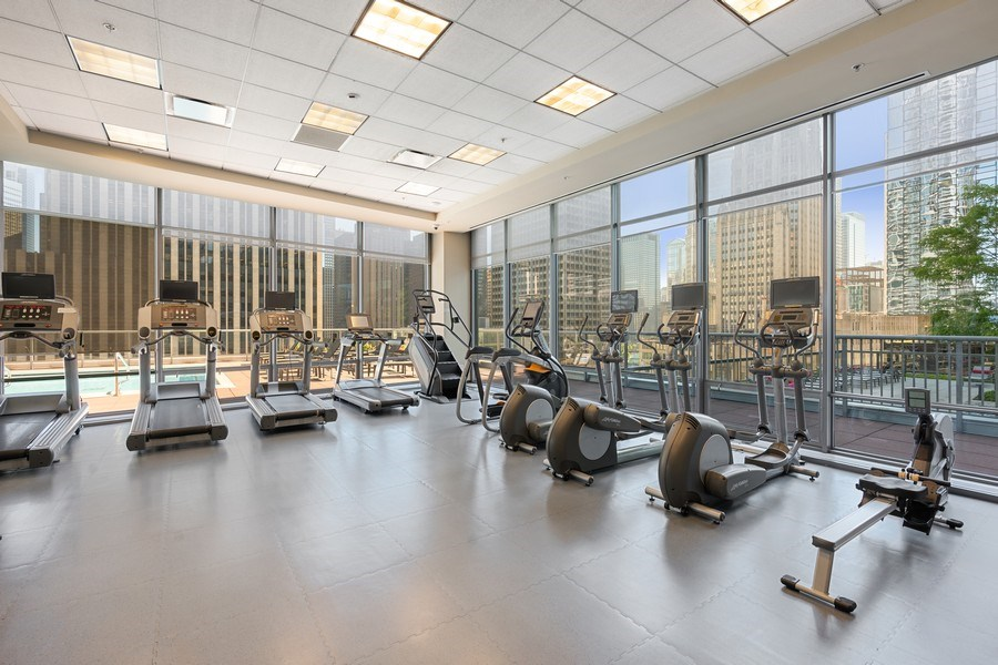 Real Estate Photography - 240 E Illinois, Unit 1804, Chicago, IL, 60611 - Exercise Room