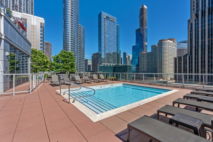 Real Estate Photography - 240 E Illinois, Unit 1804, Chicago, IL, 60611 - Pool