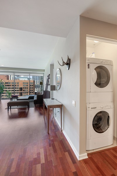 Real Estate Photography - 240 E Illinois, Unit 1804, Chicago, IL, 60611 - Laundry Room