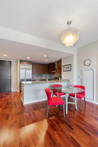 Real Estate Photography - 240 E Illinois, Unit 1804, Chicago, IL, 60611 - Kitchen/Dining