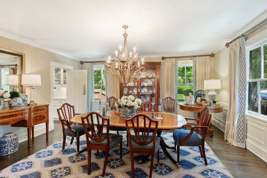 Real Estate Photography - 920 Church, Lake Forest, IL, 60045 - Dining Room