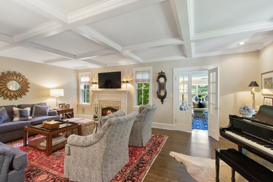 Real Estate Photography - 920 Church, Lake Forest, IL, 60045 - Family Room