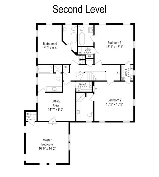 Real Estate Photography - 920 Church, Lake Forest, IL, 60045 - Floor Plan