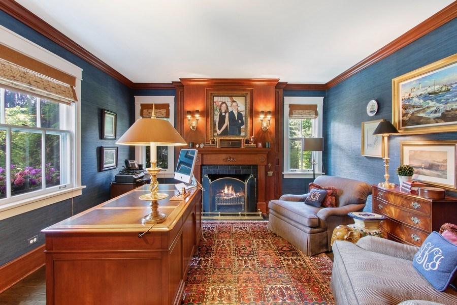 Real Estate Photography - 920 Church, Lake Forest, IL, 60045 - Library