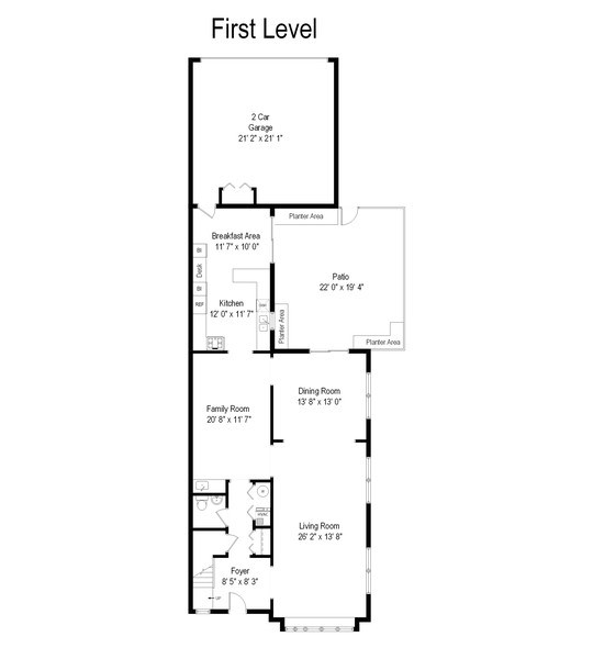 Real Estate Photography - 726 Lorraine, Highland Park, IL, 60035 - Floor Plan