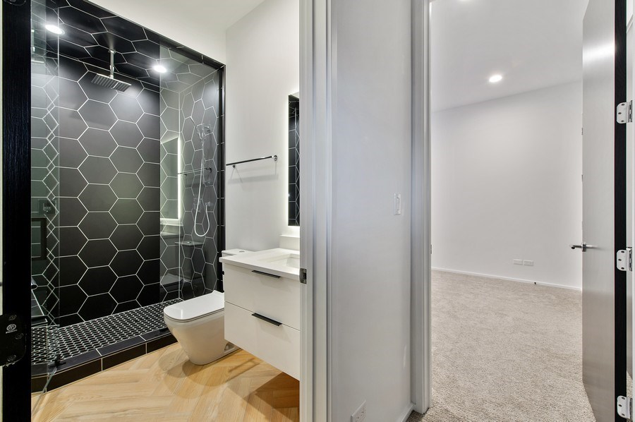 Real Estate Photography - 3917 N Marshfield Ave, Chicago, IL, 60613 - 3rd Bathroom