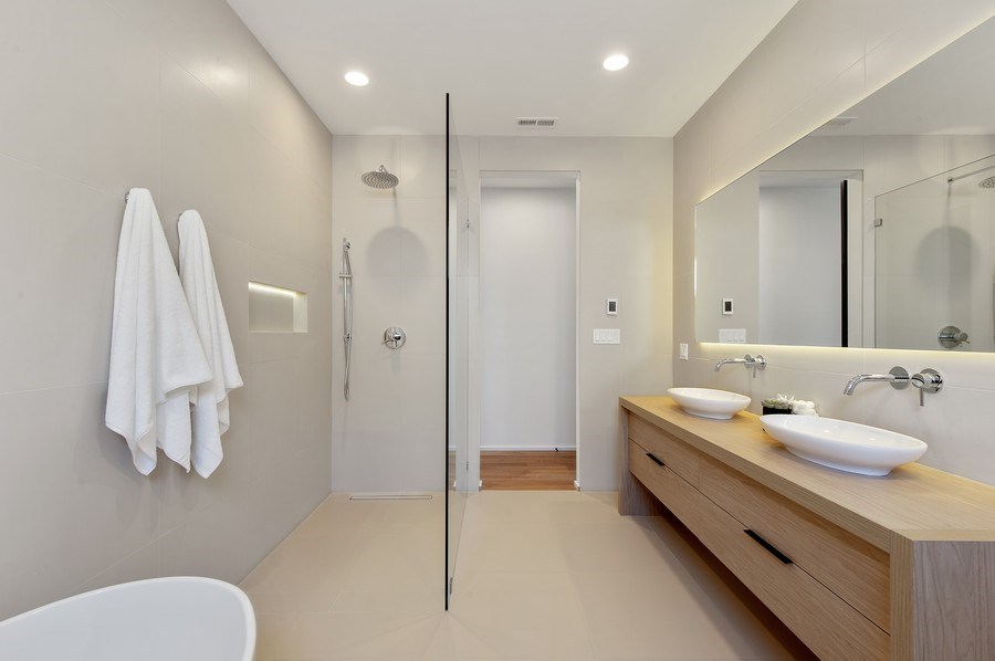 Real Estate Photography - 3917 N Marshfield Ave, Chicago, IL, 60613 - Master Bathroom