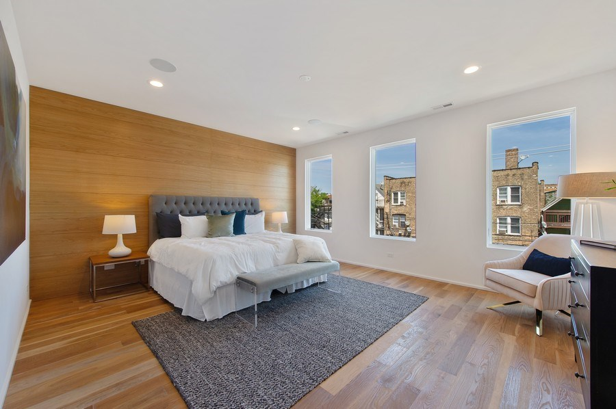 Real Estate Photography - 3917 N Marshfield Ave, Chicago, IL, 60613 - Master Bedroom