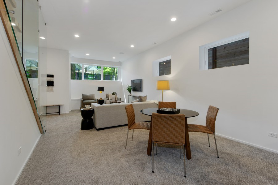 Real Estate Photography - 3917 N Marshfield Ave, Chicago, IL, 60613 - Family Room