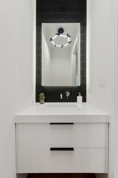 Real Estate Photography - 3917 N Marshfield Ave, Chicago, IL, 60613 - Half Bath