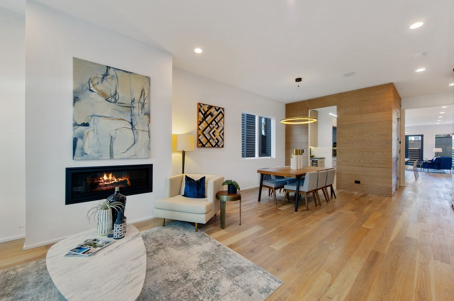 Real Estate Photography - 3917 N Marshfield Ave, Chicago, IL, 60613 - Living Room / Dining Room