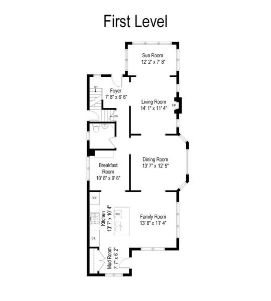 Real Estate Photography - 391 Shenshone, Riverside, IL, 60546 - Floor Plan