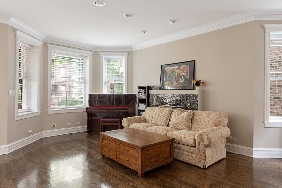 Real Estate Photography - 3702 N Bell, Chicago, IL, 60618 - Living Room