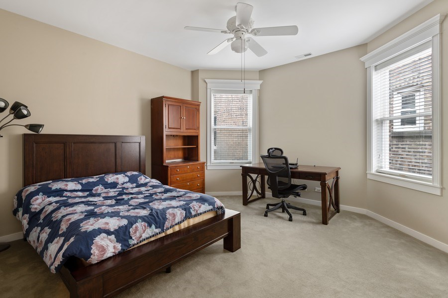 Real Estate Photography - 3702 N Bell, Chicago, IL, 60618 - 2nd Bedroom