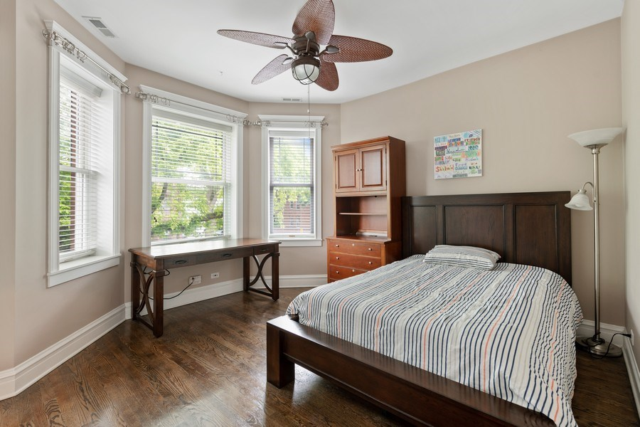 Real Estate Photography - 3702 N Bell, Chicago, IL, 60618 - 3rd Bedroom