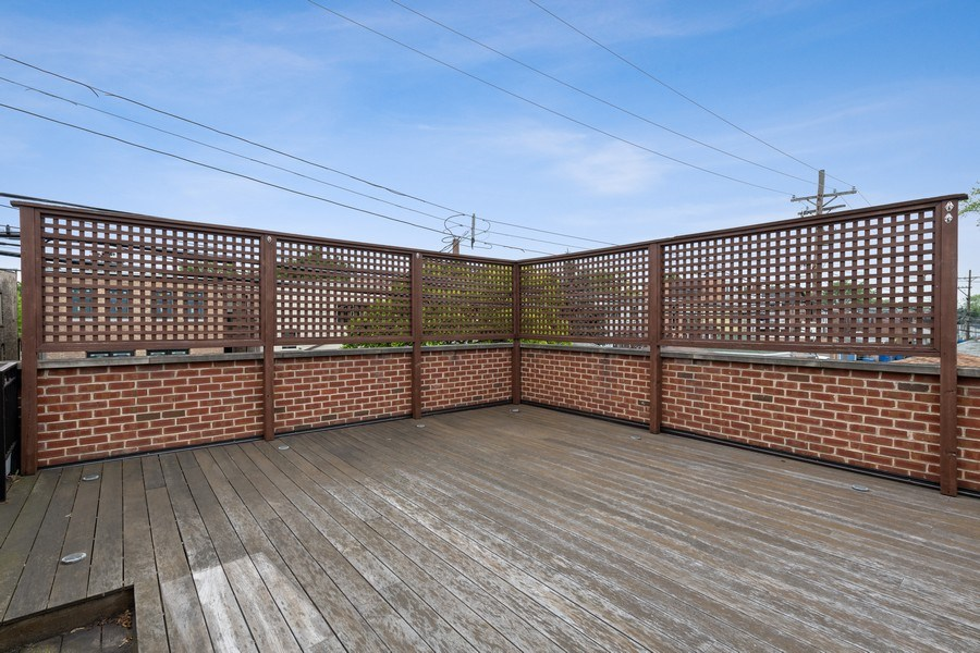 Real Estate Photography - 3702 N Bell, Chicago, IL, 60618 - Roof Deck