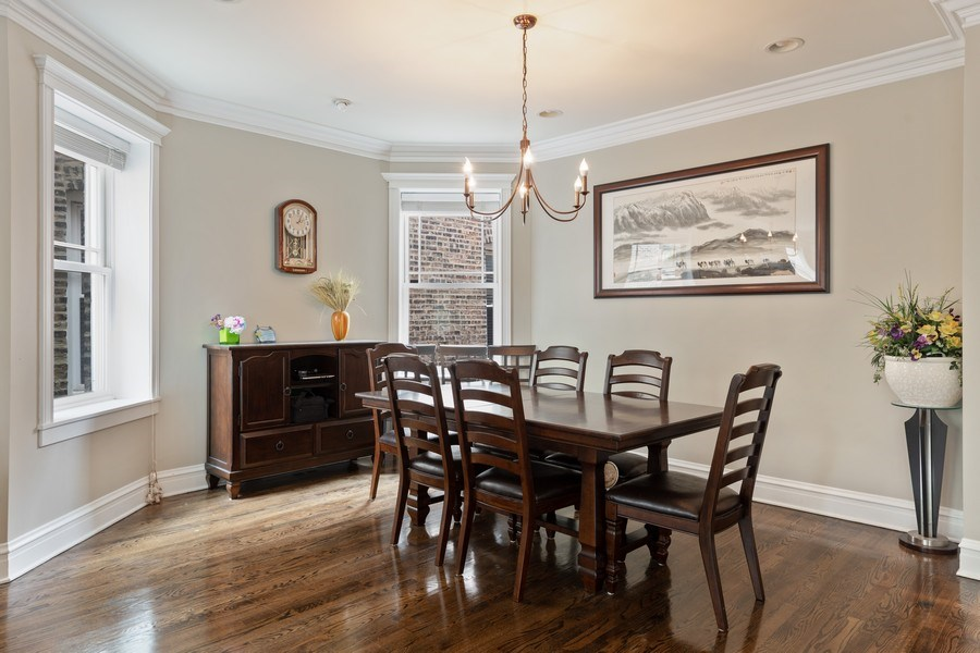 Real Estate Photography - 3702 N Bell, Chicago, IL, 60618 - Dining Room