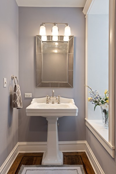 Real Estate Photography - 3702 N Bell, Chicago, IL, 60618 - Half Bath