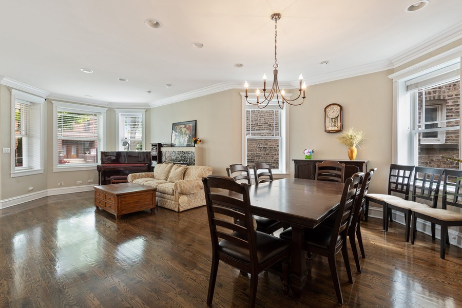 Real Estate Photography - 3702 N Bell, Chicago, IL, 60618 - Living Room / Dining Room