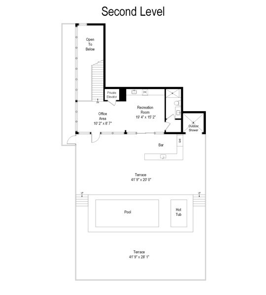 Real Estate Photography - 1140 N Wells, PH, Chicago, IL, 60610 - Floor Plan