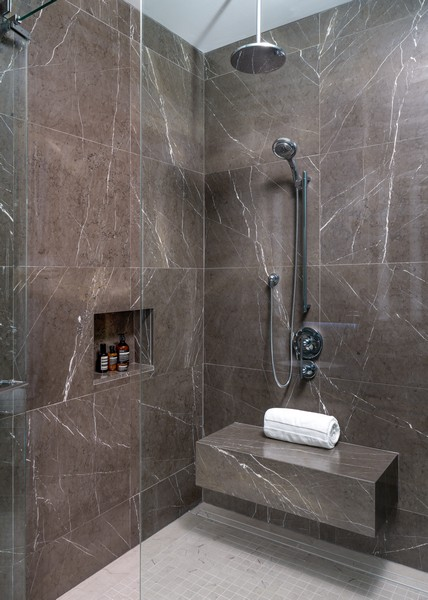 Real Estate Photography - 1140 N Wells, PH, Chicago, IL, 60610 - Bathroom Shower