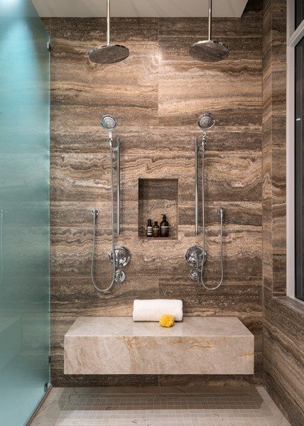 Real Estate Photography - 1140 N Wells, PH, Chicago, IL, 60610 - Master Bath Shower