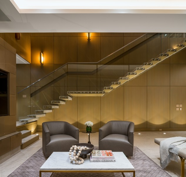 Real Estate Photography - 1140 N Wells, PH, Chicago, IL, 60610 - Floating Staircase
