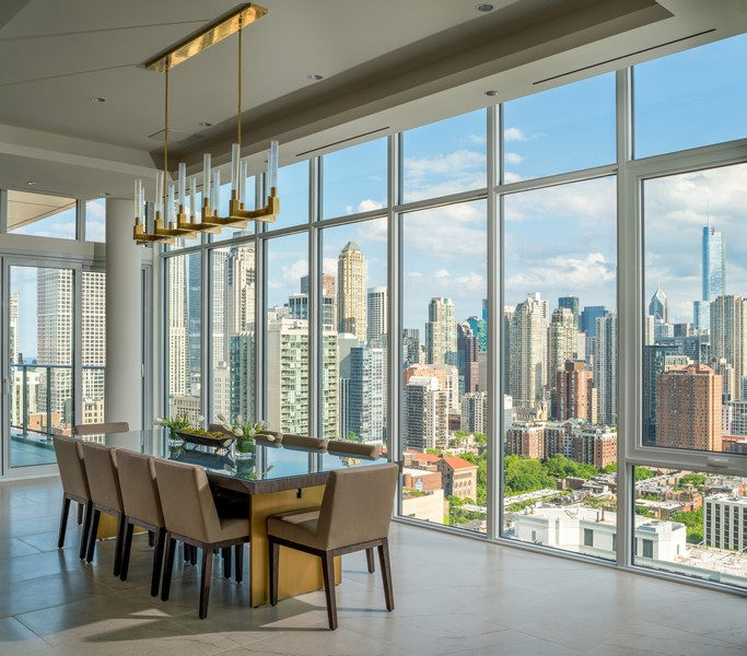 Real Estate Photography - 1140 N Wells, PH, Chicago, IL, 60610 - Dining