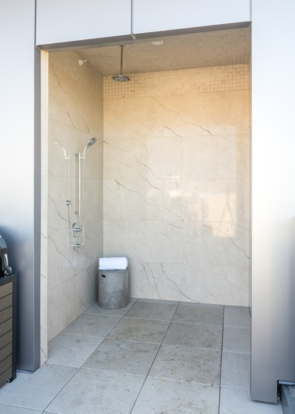 Real Estate Photography - 1140 N Wells, PH, Chicago, IL, 60610 - Outdoor Shower