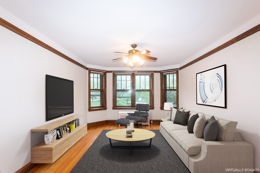 Real Estate Photography - 5449 S East View Park, Unit 1, Chicago, IL, 60615 - Living Room